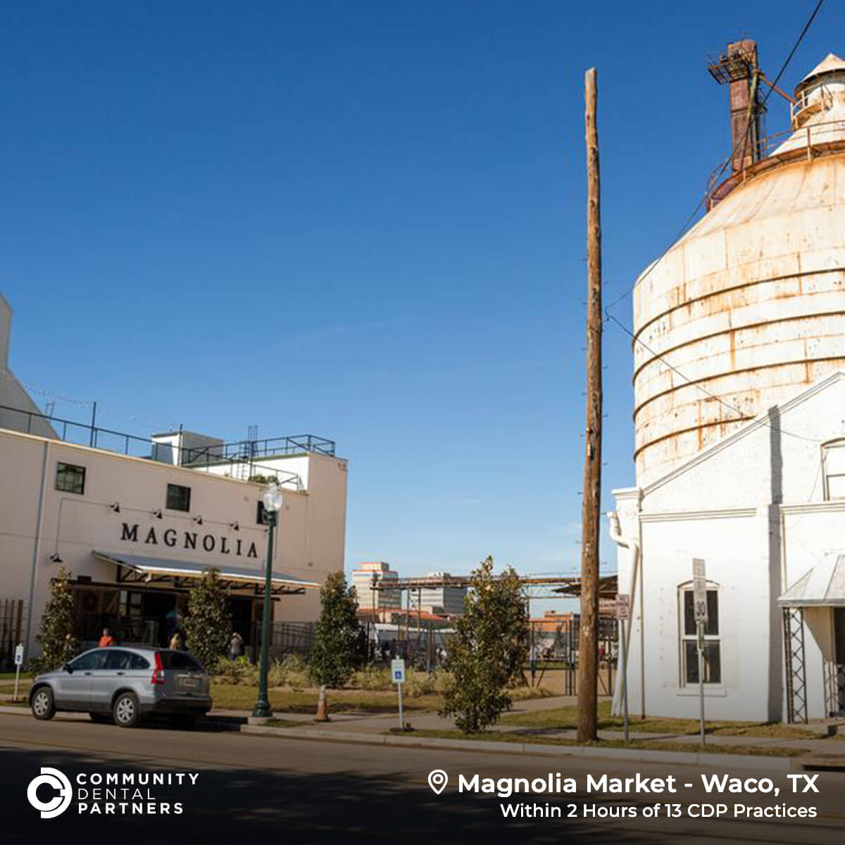 A photo of Magnolia Market in Waco, TX, just one of the amazing places you can visit in Texas. The Market is within 2 hours of 13 CDP Practices!